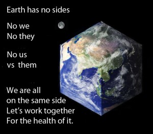 The earth is round.